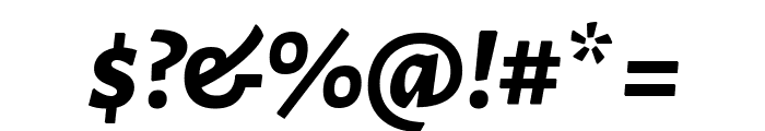 Alegreya Sans SC ExtraBold Italic Font OTHER CHARS