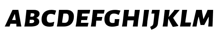 Alegreya Sans SC ExtraBold Italic Font LOWERCASE