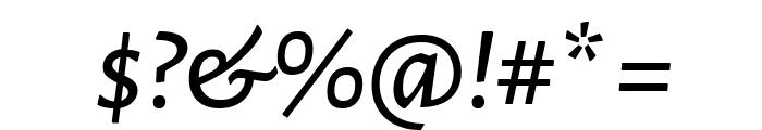 Alegreya Sans SC Medium Italic Font OTHER CHARS