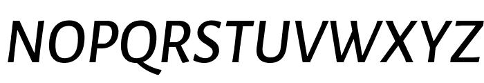 Alegreya Sans SC Medium Italic Font UPPERCASE