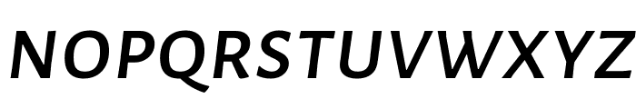 Alegreya Sans SC Medium Italic Font LOWERCASE