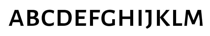 Alegreya Sans SC Medium Font LOWERCASE
