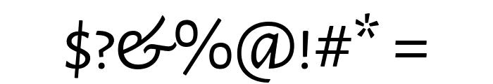 Alegreya Sans SC Regular Font OTHER CHARS