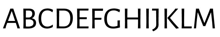 Alegreya Sans SC Regular Font UPPERCASE