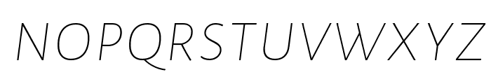 Alegreya Sans SC Thin Italic Font LOWERCASE