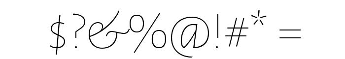 Alegreya Sans SC Thin Font OTHER CHARS