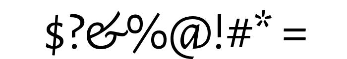 Alegreya Sans SC Font OTHER CHARS