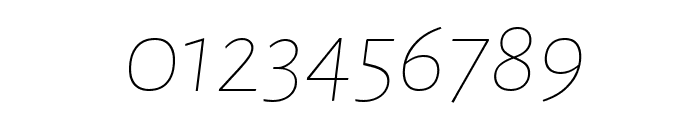 Alegreya Sans Thin Italic Font OTHER CHARS