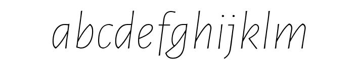 Alegreya Sans Thin Italic Font LOWERCASE