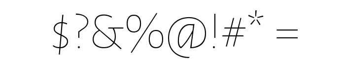 Alegreya Sans Thin Font OTHER CHARS