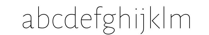Alegreya Sans Thin Font LOWERCASE