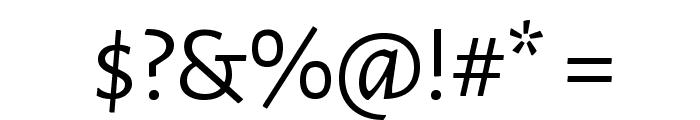 Alegreya Sans Font OTHER CHARS