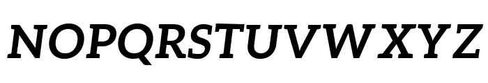 Aleo Bold Italic Font UPPERCASE