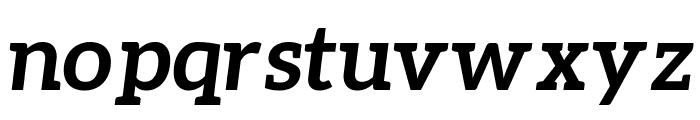 Aleo BoldItalic Font LOWERCASE