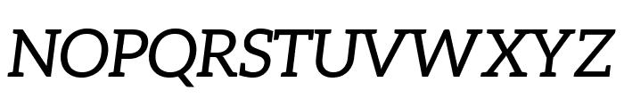Aleo Italic Font UPPERCASE