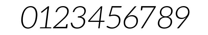 Aleo Light Italic Font OTHER CHARS