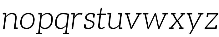 Aleo Light Italic Font LOWERCASE