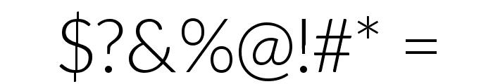 Aleo Light Font OTHER CHARS