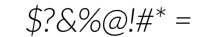 Aleo LightItalic Font OTHER CHARS