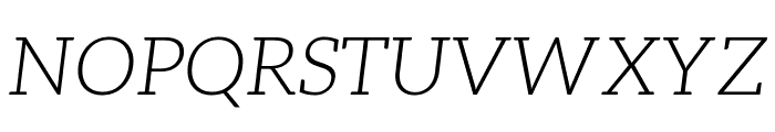 Aleo LightItalic Font UPPERCASE
