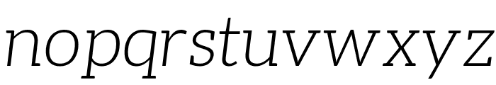 Aleo LightItalic Font LOWERCASE