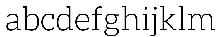 Aleo Light Font LOWERCASE