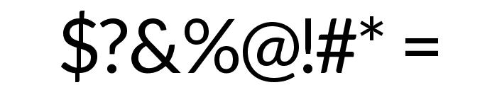 Aleo Regular Font OTHER CHARS