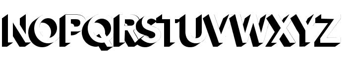 Alesand Extrude ExtraBold Font UPPERCASE
