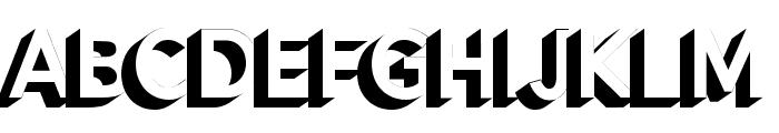 Alesand Extrude ExtraBold Font LOWERCASE