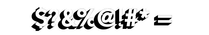 AlesandExtrude-ExtraBold Font OTHER CHARS
