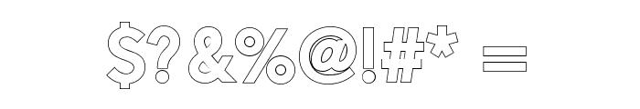 AlesandOutline-ExtraBold Font OTHER CHARS