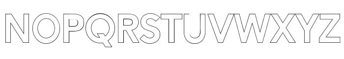 AlesandOutline-ExtraBold Font LOWERCASE