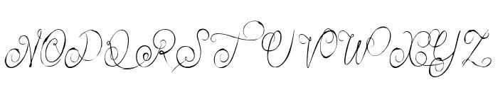 Alexandra Orleans Font UPPERCASE