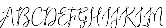 AlexandraDemo Font UPPERCASE