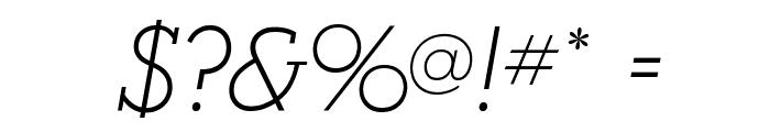 AlexandriaFLF-Italic Font OTHER CHARS