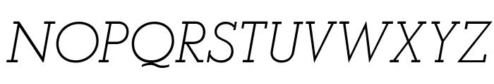 AlexandriaFLF-Italic Font UPPERCASE