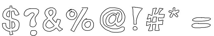 AlexsBubbles Font OTHER CHARS