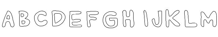 AlexsBubbles Font UPPERCASE