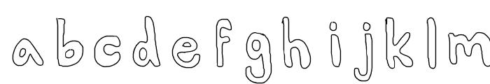 AlexsBubbles Font LOWERCASE