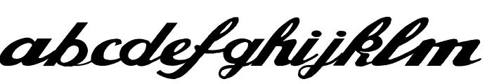 Alfaowner Script Bold Italic Font LOWERCASE