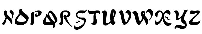 AlfredDrake Font UPPERCASE