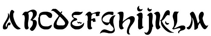 AlfredDrake Font LOWERCASE