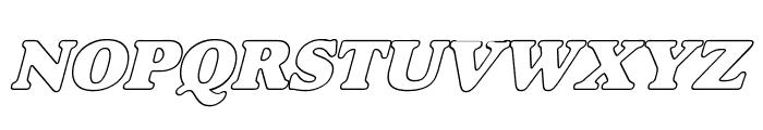 Alfredo Heavy Hollow Italic Font UPPERCASE