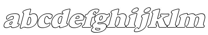 Alfredo Heavy Hollow Italic Font LOWERCASE
