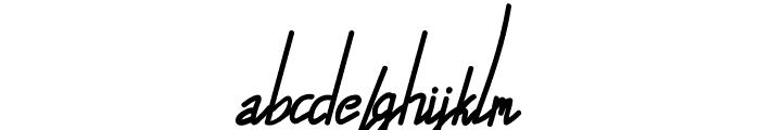Alfrida Signature Font LOWERCASE