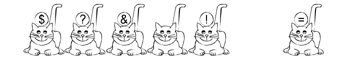 Ali-Cat Font OTHER CHARS