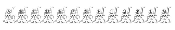 Ali-Cat Font UPPERCASE