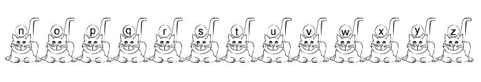 Ali-Cat Font LOWERCASE