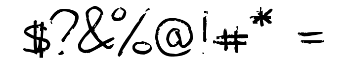 Alice Oranges Font OTHER CHARS