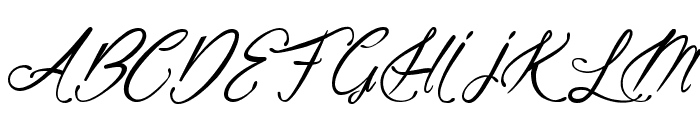 Alicia on the enchanted Highlands Font UPPERCASE